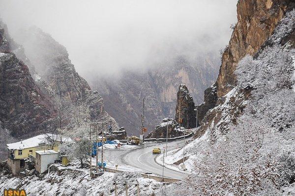 بارش برف و باران در غرب کشور
