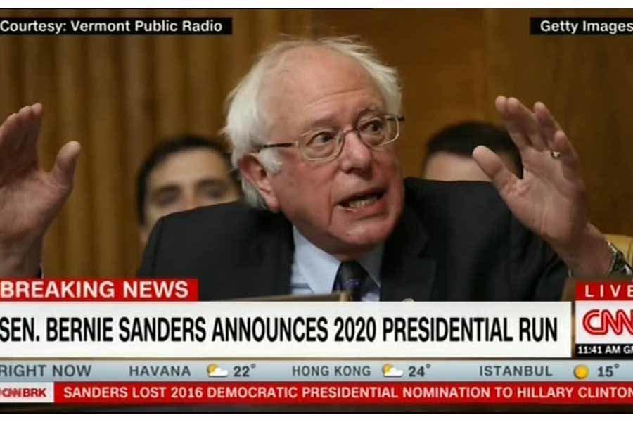 اعلام نامزدی برنی سندرز برای انتخابات ریاست جمهوری 2020 آمریکا