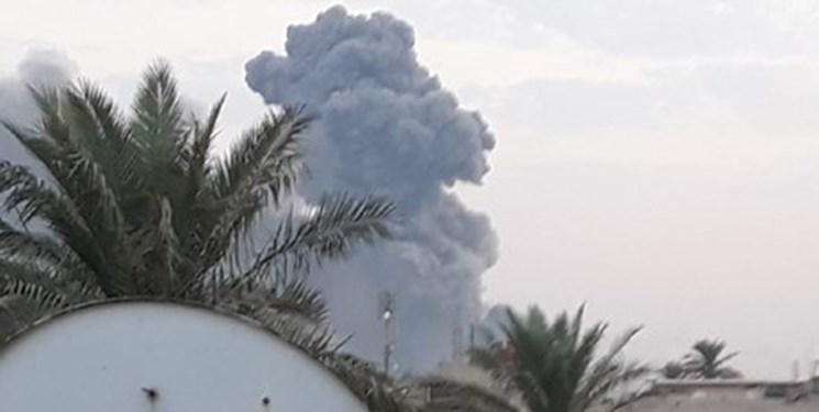 عکس و فیلم، انفجار شدید در جنوب بغداد