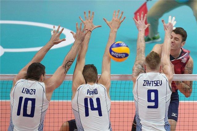 دومین پیروزی ایتالیا و دومین باخت آمریکا در والیبال المپیک
