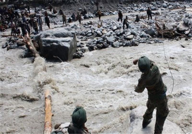 تعداد تلفات سیل و رانش زمین در هند به 5000 نفر رسید