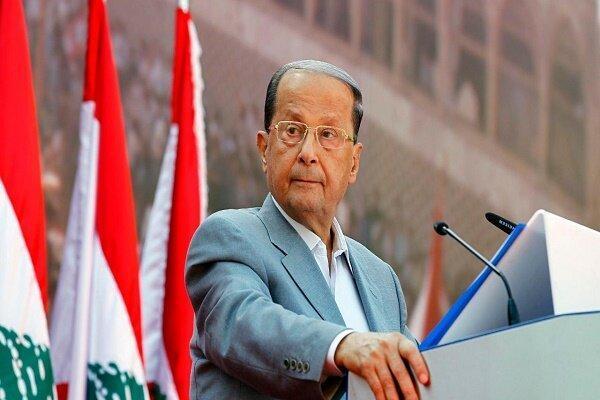 ملاقات رئیس جمهور لبنان با مقام نظامی انگلیس