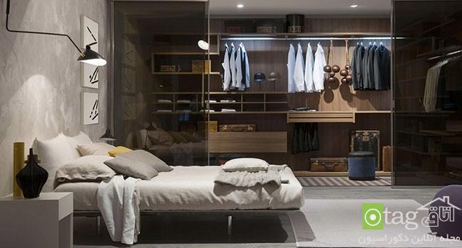 مدل های جدید طراحی کمد لباس در دکوراسیون اتاق خواب
