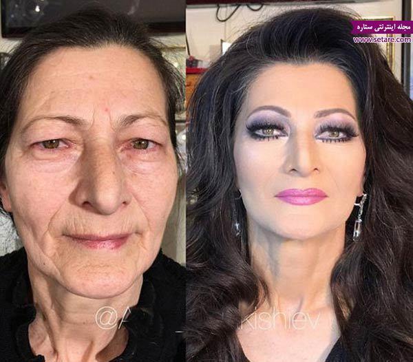 تغییرات شگفت انگیز چهره با آرایش صورت حرفه ای