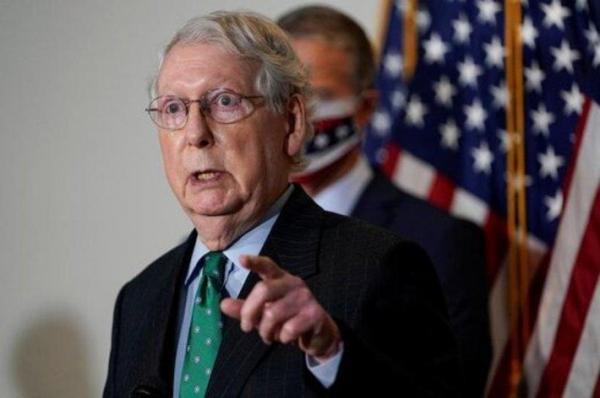 رهبر حزب اکثریت مجلس سنای آمریکا در مورد نحوه همکاری با بایدن گفت