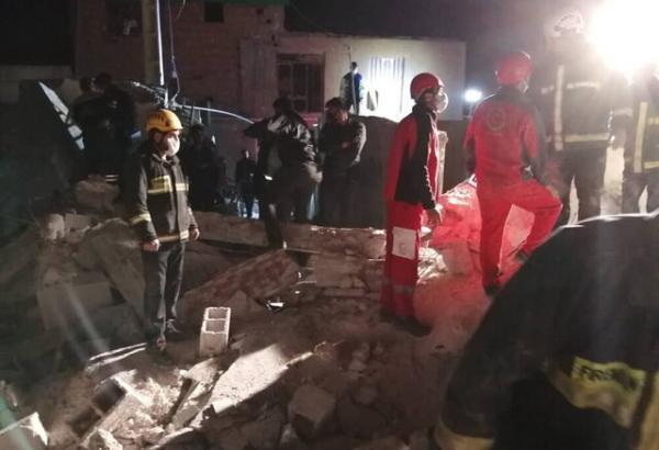 انفجار دو خانه در سرآسیاب و زیرآوار ماندن دو نفر