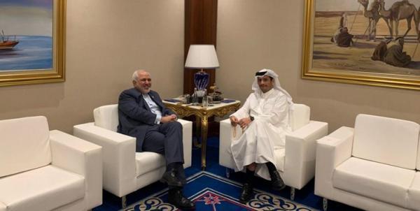 ظریف با وزیر خارجه قطر ملاقات کرد