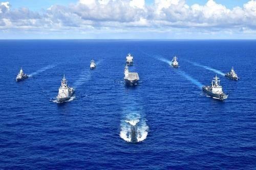 رزمایش مشترک آمریکا، استرالیا، ژاپن و کره جنوبی شروع شد