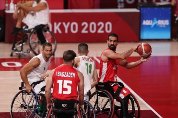 نخستین برد تیم بسکتبال با ویلچر در پارالمپیک، ایران 4 امتیازی شد